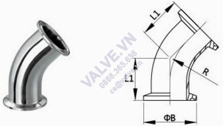 cut-inox-45°-noi-nhanh-clamp-din