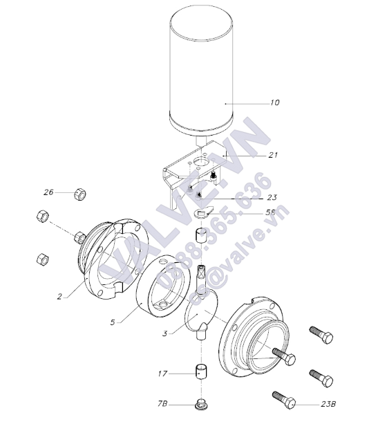donjoy-sanitary-clamp-pneumatic-butterfly-valve-with-positioner-for-beer-picture-4