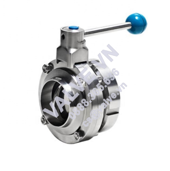 donjoy-stainless-steel-manual-weld-butterfly-valve-with-pull-handle-picture-1